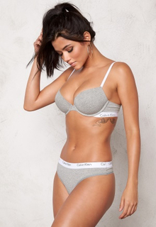 cc4f52c30d Calvin Klein CK One Cotton Thong Grey Heather M