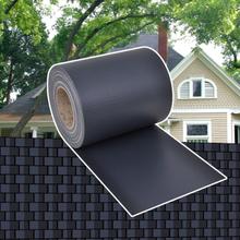 vidaXL Insynsskydd för trädgården PVC 70x0,19 m mörkgrå