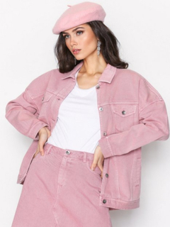 Vero Moda Vmolivia Ls Oversized Color Jacket Jeansjackor Rosa