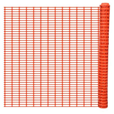 vidaXL Sikkerhed Hegn Barriere for Sne Fægtning af Trellis Orange 50 m