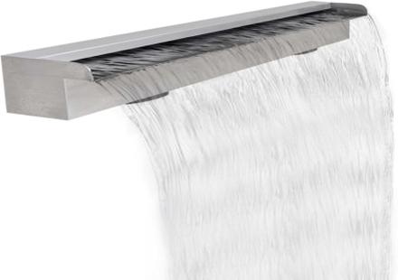 vidaXL Rektangulärt vattenfall poolfontän i rostfritt stål 120 cm