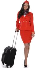 Naisten punainen lentoelämäntäasu