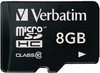 Verbatim microSDHC Minneskort Class 10 8 GB