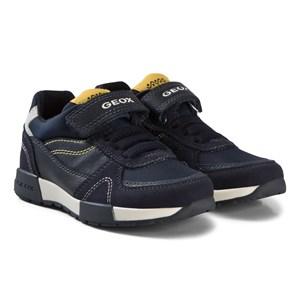 Geox Suede Junior Alfier Sneakers med Kardborreband Marinblå 35 (UK 2.5)