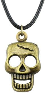 Halsband dödskalle brons skull skelett halsband halsband rem
