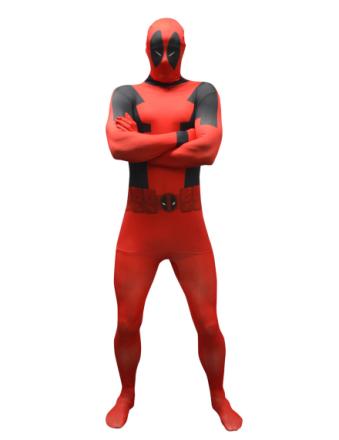Kostume Morphsuits Deadpool herre voksen M - 150 - 160 cm - Vegaoo.dk