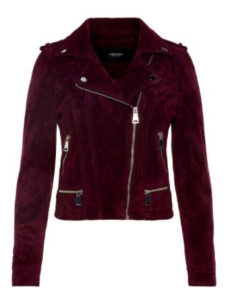 VERO MODA Suede Jacket Women Purple