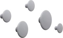 The Dots ripustin, 5 kpl harmaa