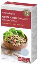 Clearspring Quick Cook lange brune ris & quinoa Ø, 250g.