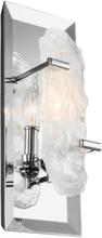 Katerina Væglampe H38,1 cm 1 x E14 - Poleret krom/Krystal