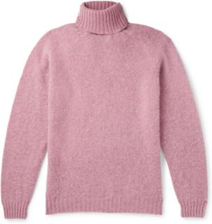 Sylvester Brushed Virgin Wool Rollneck Sweater - Pink