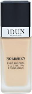 IDUN Minerals Norrsken Mineral Illuminating Foundation Siri, 30ml.