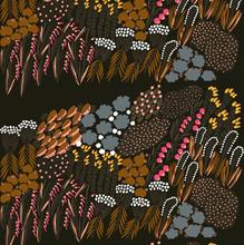 Letto kangas ruskea-sininen-vaaleanpunainen