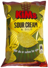 Kims Sour Cream & Dild Chips 175 g