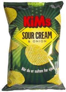 Kims Sour Cream & Onion Chips 175 g