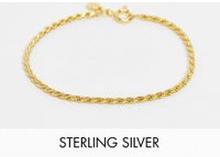 Astrid and Miyu – Guldpläterad armband med repkedja och äkta silver
