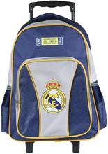 Real Madrid Ryggsäck/Resväska Trolley Med Hjul 43x32x18 cm
