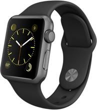 Apple Watch Series 0 (1. Gen. 2015) Sport Watch Sport 38mm 38mm Aluminium Sort Gummirem Sort