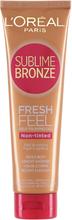 Köp L'Oreal Paris Sublime Bronze Feel Fresh Self Tanning Gel, 150 ml L'Oréal Paris Brun utan sol fraktfritt