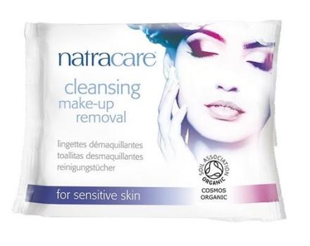 Natracare makeup fjerner vådservietter 20 stk.