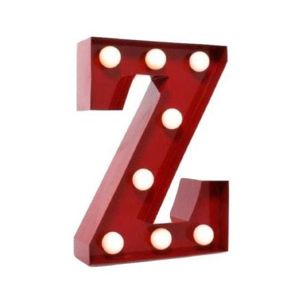 Bokstavslampa Metall Retro 'Z'