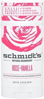 Deodorant stick Rose+Vanilla Schmidt´s, 92 g.