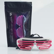 Blinkande Partyglasögon (Färg: Rosa)