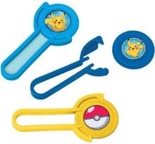 12 stk Mini Disc Shooters - Pikachu og Pokémon-Venner