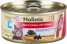 Feline Porta 21 Holistic 6 x 156 g - Okse & Kylling med rejer, grøntsager og frugt i gelé