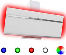 vidaXL RGB emhætte LED 90 cm rustfrit stål og hærdet glas