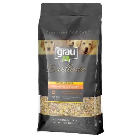 Grau Excellence Premium basismix med grøntsager & flakes - 5 kg