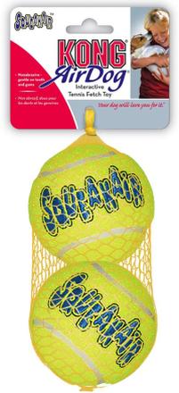 KONG Airdog Squeaker Ball tennisbollar med pipljud - Large: Ø 8 cm, 2-pack