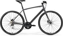 """Merida Crossway Urban 20-D Hybridcykel Grå, 28"""", Skivbroms, 24 växlar, 12,1 kg"""