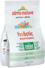 Kombipakke: Almo Nature tør- & vådfoder - 2 kg Holistic Okse & Ris + 6 x 140 g HFC Tun, Kylling & Skinke