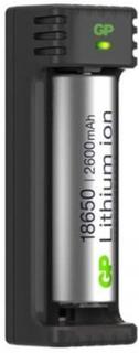 Batteri & Laddare GP Batteries 18650 2600mAh Laddare för 1 Batteri