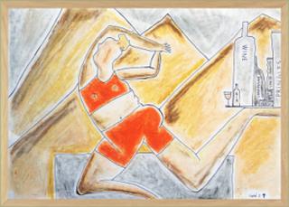 BALANCE - original artpiece with frame A3