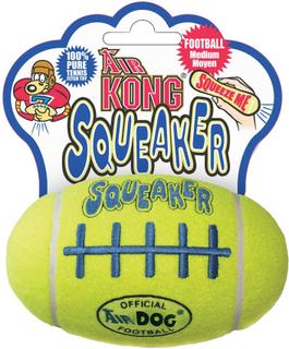 KONG AirDog Squeaker tennis-football med piv - 2 stk. i økonomisæt