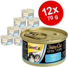 GimCat ShinyCat Jelly Kitten 12 x 70 g - Tun