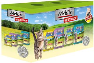 Blandet pakke: 12 x 100 g MAC's Cat portionspose - Blandet fisk