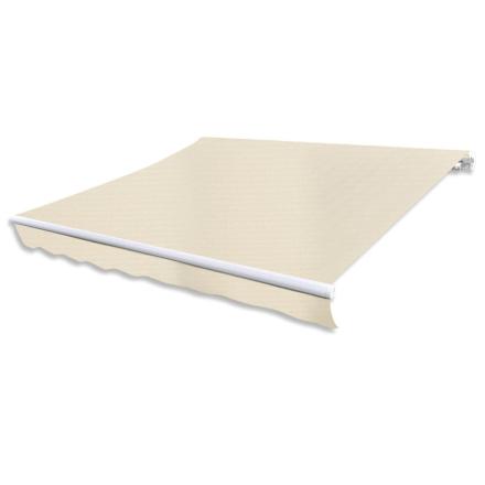 vidaXL foldemarkise 300 cm cremefarvet