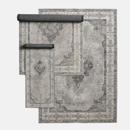 VENUS vævet bomuldstæppe - 75x200 - grå