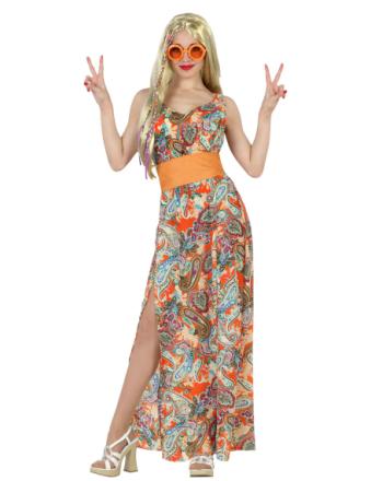 Orange hippie - utklädnad vuxen