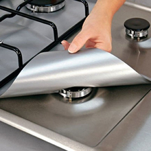 Non-stick Gas Range Protectors Reusable Foil Stove Burner Protective Cover Liner Clean Mat Pad