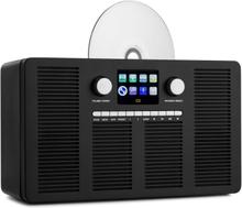 """Vertico Internetradio med CD-spelare IR/DAB+/FM BT 2,4"""" HCC-display"""