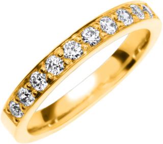 Vigselring Safira Shine Mystic 18k guld, Cubic Zirconia 0,40 ct