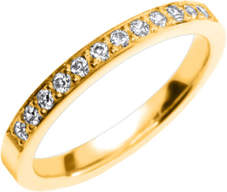 Vigselring Safira Shine Maysville 18k guld, Cubic Zirconia 0,24 ct