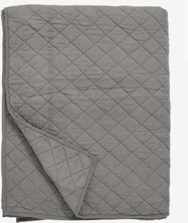 Quiltet sengetæppe i bomuld - 220x270 - grå