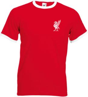 Liverpool stil t-shirt med liverbird retro tröjor