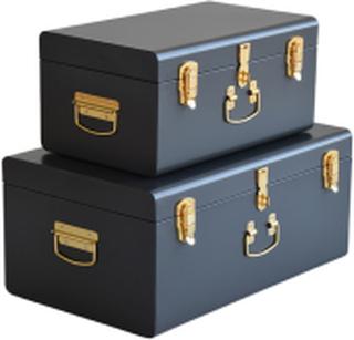 TIFFANY Koffert Mörkgrå x2 | Förvaringsmöbler