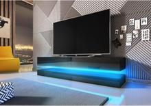 Vivaldi Furniture FLY TV bänk svart med LED belysning och två lådor
